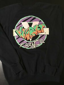 Vintage-80s-Vuarnet-France-Black-50-50-2-Sided-Sweatshirt-Surf-Skate-Beach