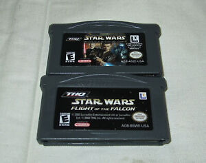 Gameboy-Advance-Star-Wars-Episode-II-amp-Flight-of-the-Falcon-Game-Lot-of-2-NES