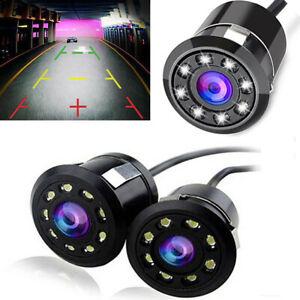 170-CMOS-coche-trasera-vista-Camara-reversa-8-LED-Vision-nocturna-Impermeable