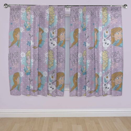FROZEN ELSA /'CRYSTAL/' GIRLS CURTAINS 66 X 72 CHILDRENS MOVIE CHARACTER FREE P/&P