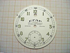 Cadran Ancien Pendule Pendulette Zenith Uhr,montre Efap 71 Mm Horloger N 4 Ijky0luv-10120800-628263838