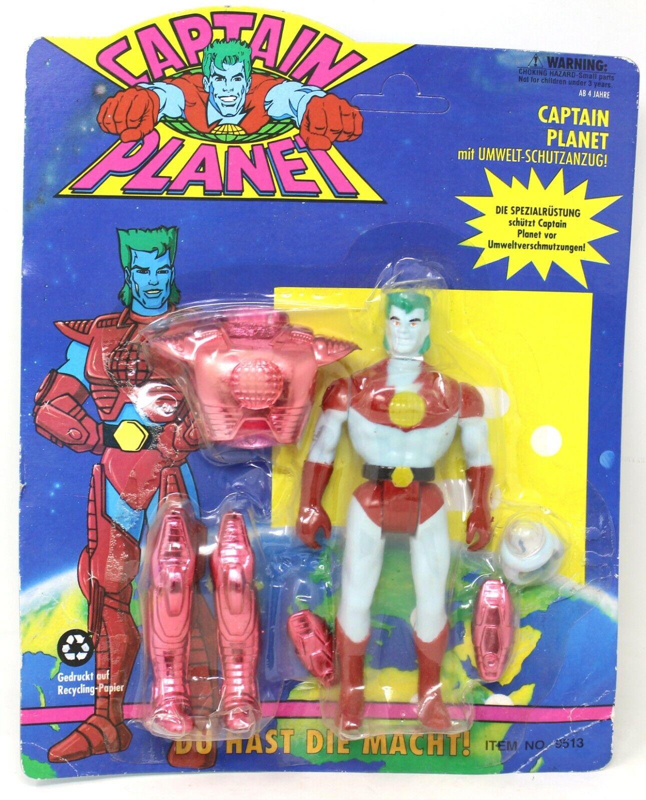 Jahr Captain Planet W Rot Verschmutzung Rüstung Wirkung Figur 1992 Deutsch