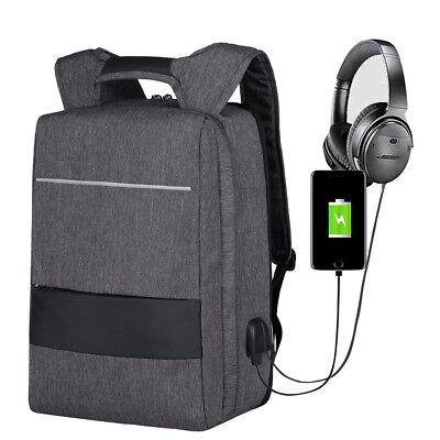 Rucksack Backpack Sport Reise Notebook Tasche 17 Zoll Laptopfach USB Anschluss