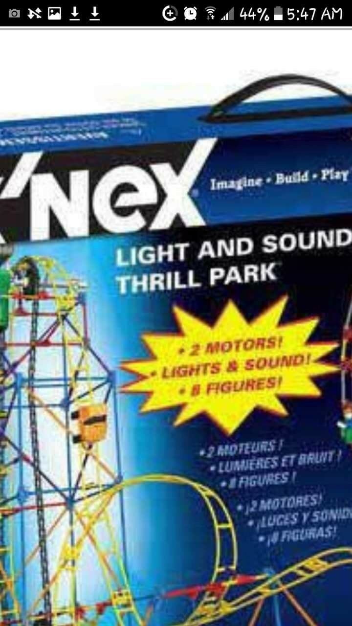 BUILD 2 RIDES TOGETHER- NEW LIGHTS & & & SOUND AMUSEMENT THRILL PARK SEALED IN BOX f70216