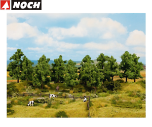 NOCH-24600-Deciduous-Trees-10-14-CM-High-8-Piece-New-Boxed