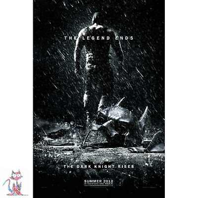 A5 A4 A3 A2 A1 A0 Batman The Dark Knight Rises Legend Ends Print Poster