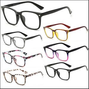 Mens-Women-Square-Clear-Lens-Glasses-Vintage-Geek-Nerd-Fashion-Eyewear-Frame-Lot