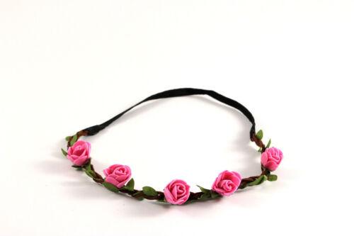 Haarband Stirnband Blumen Boho Hippie Festival Party Hochzeit Haarschmuck A128