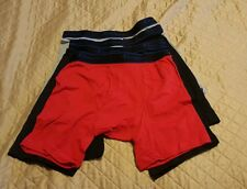 CHAMPION 4 mens cotton performance long leg boxer briefs size S