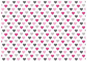 Detalles De Antecedentes Efecto A4 Cake Topper Glaseado Hoja Rosa Gris Corazones Wallpaper Ver Título Original