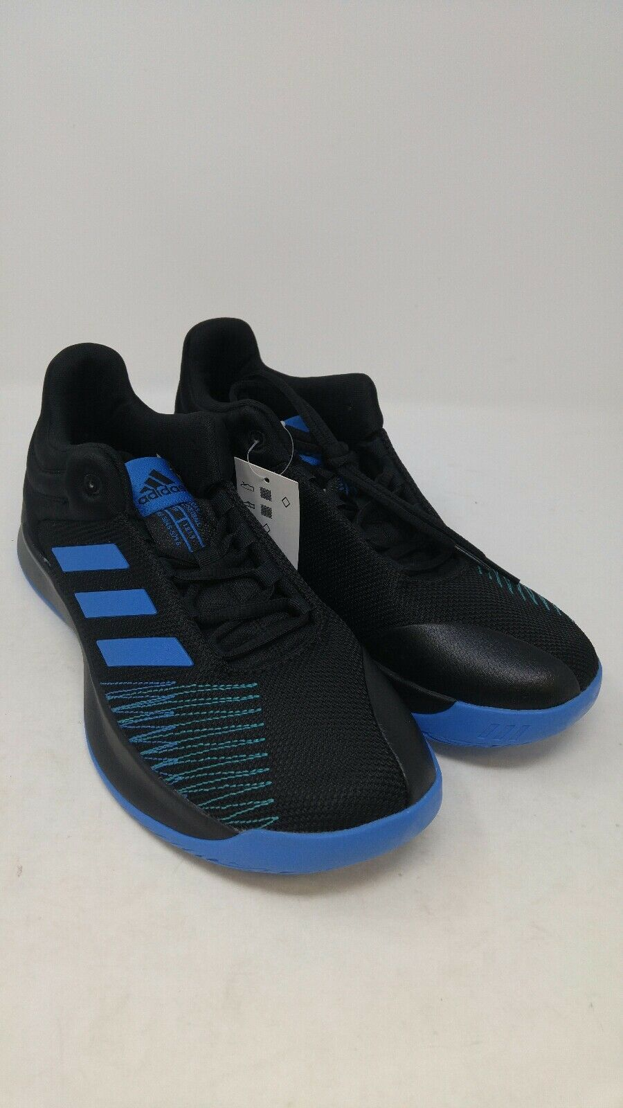 Adidas Mens Pro Spark Low 2018 Basketball shoes Black Bright bluee Size 10