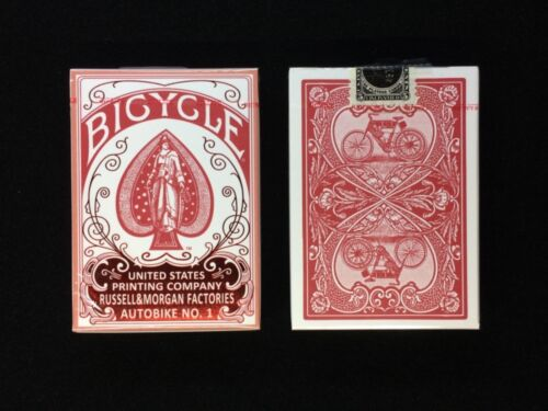 Bicycle Autobike No 1 RED Playing Cards w//Foiled Tuck /& vintage seal by USPCC