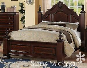 NEW! Chanelle Queen Size Bed Set, 2 pc Traditional Cherry Wood ...