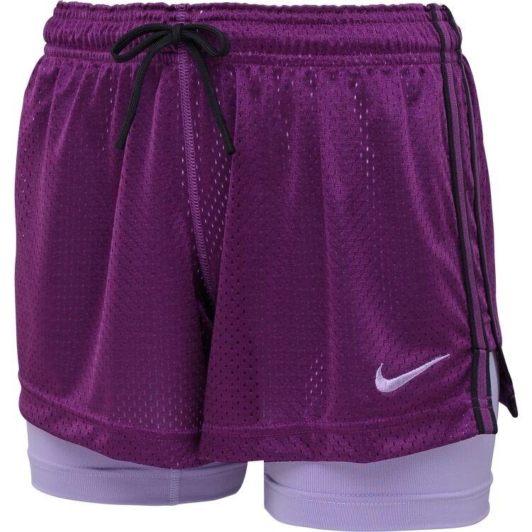 NEW  Bright Grape [S] NIKE PRO Women's DRI-FIT Double-UP Shorts Small