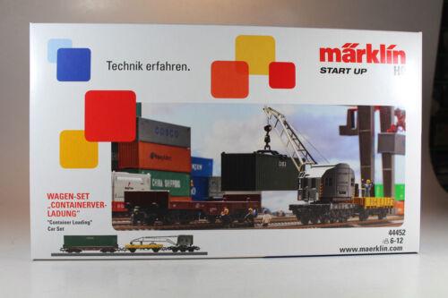 Märklin 44452 Märklin Start up Wagen-Set Containerverladung Neuware.