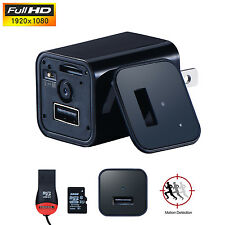 32GB HD 1080P Mini spy camera AC Adapter Plug Charger Motion Detection DVR UX-8