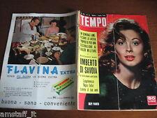 RIVISTA TEMPO 1958/14=SUZY PARKER=ANNA PROCLEMER=JOSETTE CHOULEUR=MARLON BRANDO=