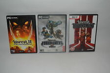 UNREAL II, UNREAL TOURNAMENT 2003 & UNREAL TOURNAMENT III  for  PC