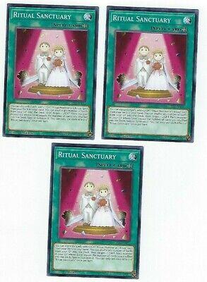 3 x Yugioh LED4-EN022 Ritual Sanctuary Common 1st Edition NM
