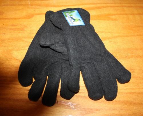 Black Unisex Winter Fleece Gloves  Men Women  Outdoor Sports Warm /& Soft