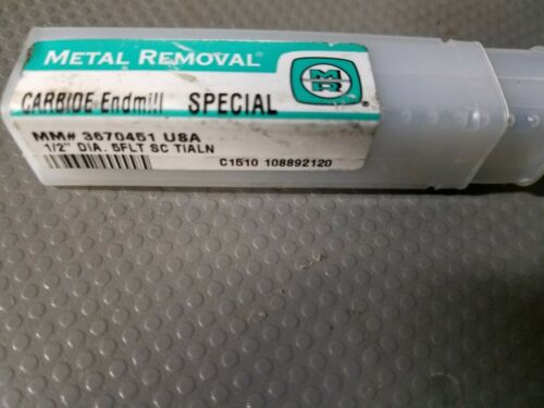 """WIDIA METAL REMOVAL 1//2/""""Dia X 5//8/""""LOC 5FL SC TiAlN Double Ended"""