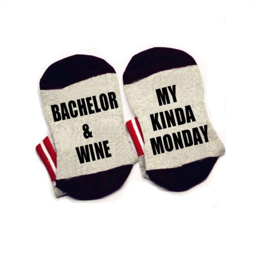 The Bachelor socks Bachelor and wine my kinda monday Socks cotton comfortable