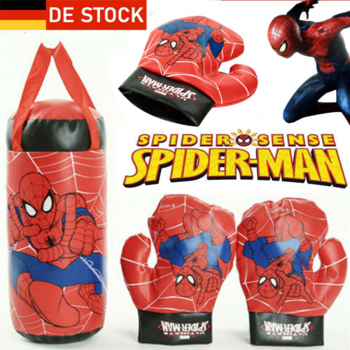 Kinder Spiderman Boxhandschuhe Boxsack Hängend Boxset Boxen Handschuhe Geschenk