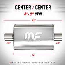 """Magnaflow Universal Satin Stainless Steel Muffler 2.5"""" Inlet 2.5"""" Outlet 11216"""