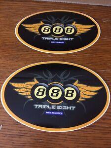 Metzeler 888 Triple Eight Motorcycle Tires Glossy Promo Peel-Off Sticker
