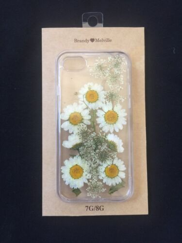 Brandy Melville Clear White Daisy Floral I Phone 7/8 Case Nwt by Brandy Melville