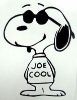 Snoopy Joe Cool Sunglasses Dog Car Window Vinyl Decal Sticker PICK YOUR COLOR