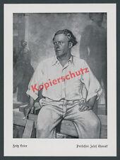 Fritz Erler Porträt Bildhauer J. Thorak Staatsatelier Baldham Vaterstetten 1939