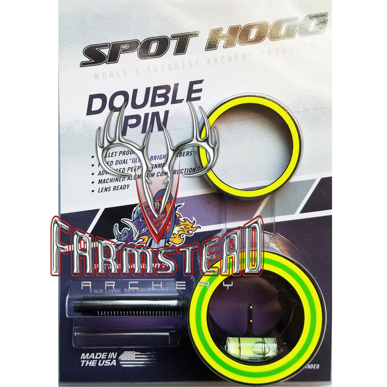 Spot Hogg Sight Head Double Pin .010 Left Hand w  Alignment Rings PG2LH10 00793
