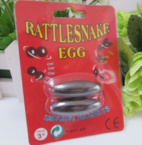 2 packs x4 Rugby shape Magnetic Buzz Magnets Singing Magnets Rattle Snake Eggs