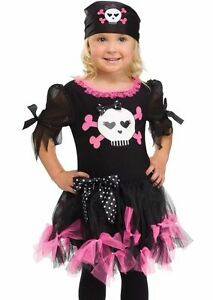 Image is loading Sally-Skully-Pirate-Costume-for-Toddler-size-3T-  sc 1 st  eBay & Sally Skully Pirate Costume for Toddler size 3T-4T by Fun World ...