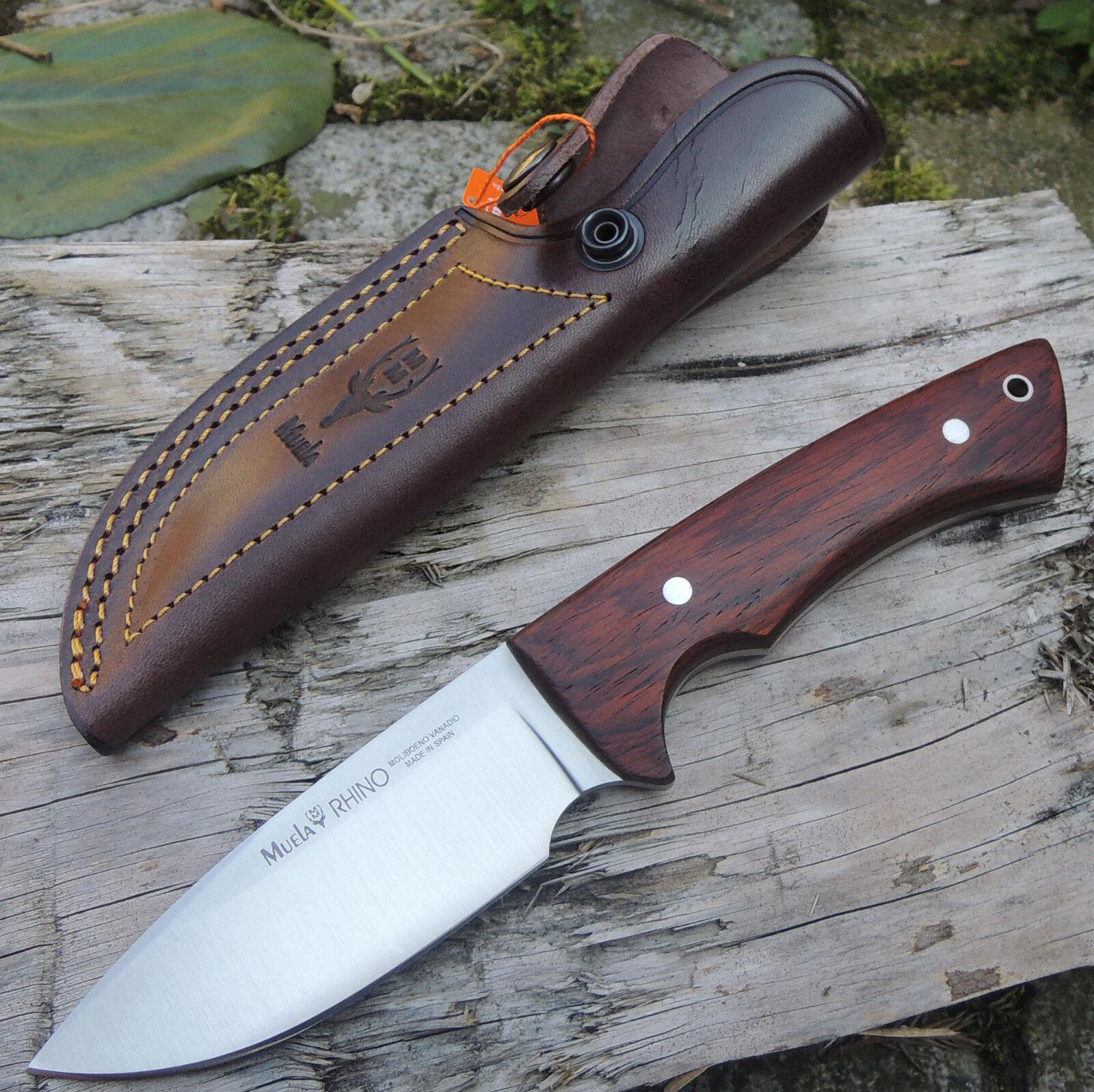 Muela Rhino Cocobolo Jagdmesser Jagdmesser Jagdmesser Messer 14C28N Sandvik Stahl + Lederscheide  | Kaufen Sie beruhigt und glücklich spielen  ec10ab