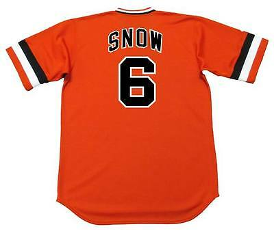 J.T. SNOW San Francisco Giants 1970's Majestic Cooperstown Baseball Jersey