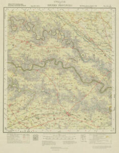 Asia Maps Maps, Atlases & Globes Survey Of India 54 J/ne Madhya/uttar Pradesh Bhind Bah Jaswantnagar 1923 Map