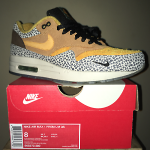 new style 715d5 706a7 Image is loading nike-air-max-1-safari-size-8-premium-