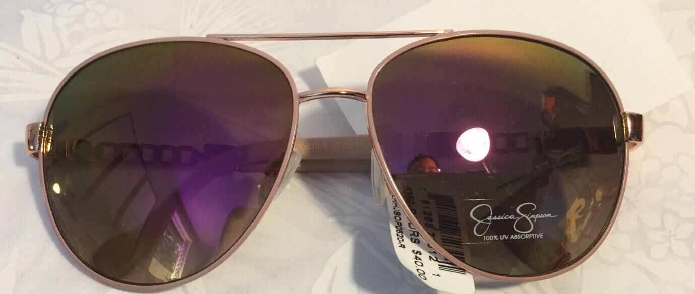 ~NWT~Jessica Simpson Sunglasses _5-Day Sale!Rose Gold Rose/Mirrored