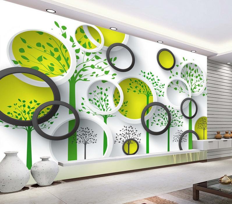 3D Circle 5080 Wallpaper Murals Wall Print Wallpaper Mural AJ WALL UK Kyra
