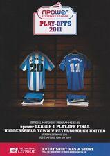 2011 PLAY OFF finale LEAGUE 1 uno HUDDERSFIELD V Peterborough MINT programma