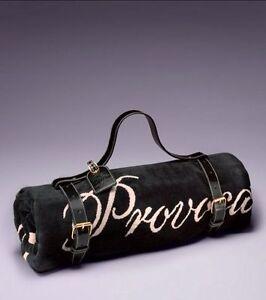 Agent Provocateur £ 125-cuir Noir-serviette De Plage Titulaire Porte - - Sac-tapis De Yoga-- Bag-yoga Matfr-fr Afficher Le Titre D'origine Prix De Vente Directe D'Usine