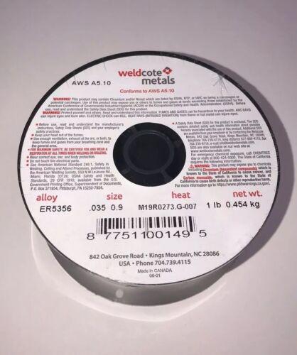 "0.9mm 1-Lb Roll PACK OF 2 Aluminum 5356 MIG Welding Wire ER5356 .035/"""
