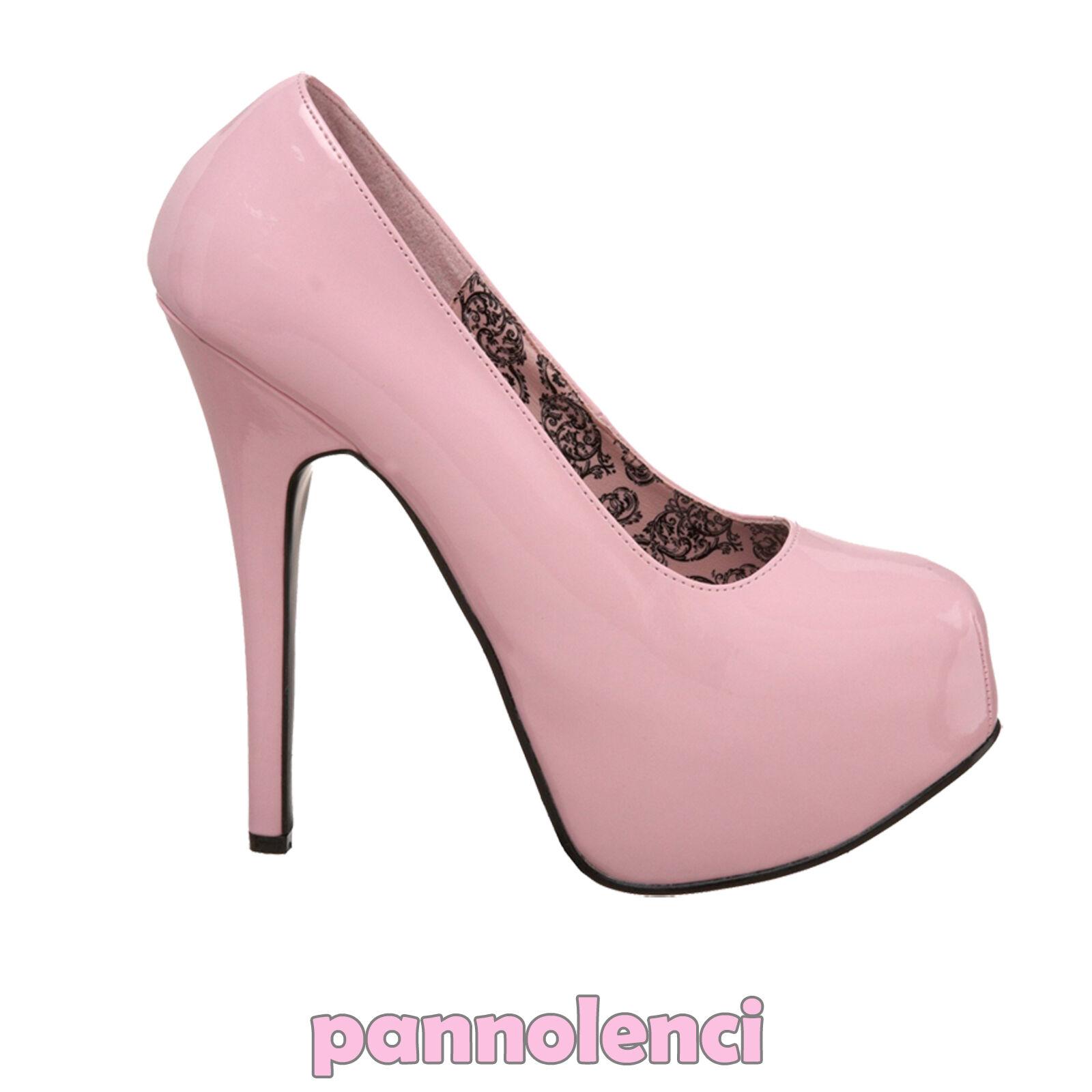 Descuento barato Zapatos de mujer zapatos de salón 39 ROSA tacón alto pumps Burlesque PLS-07