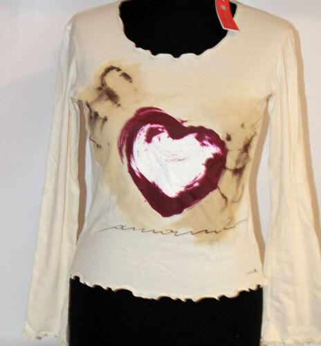 Cuore Xs T Thun Ragazza Lunga Maglia Elasticizzata Manica S Shirt 6zqnt