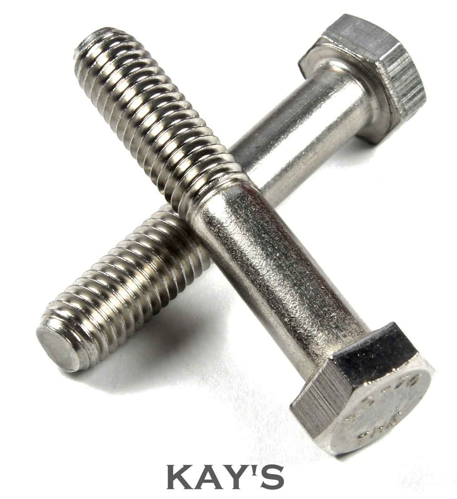 M8 (8mmØ) PART THREADED HEXAGON HEAD BOLTS HEX SCREWS A2 STAINLESS STEEL