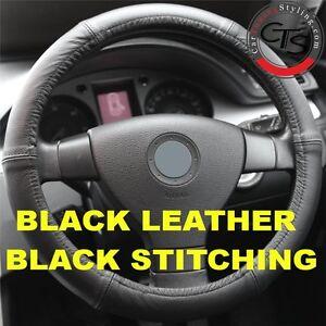 Steering Wheel Cover Véritable Cuir Noir Poignée Souple Volant Aide pour PORSCHE