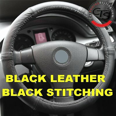 MERCEDES VITO VIANO W639 BLACK ITALIAN LEATHER STEERING WHEEL COVER NEW