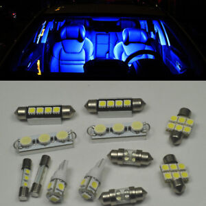 Image Is Loading 12pcs Bright Blue Smd Led Interior Light Package